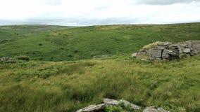 Schwarzer Felsen u. x28; Süd-Dartmoor& x29; , Süd-Brent, Nationalpark Dartmoor Lizenzfreie Stockbilder