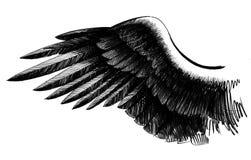 Schwarzer Flügel lizenzfreie abbildung