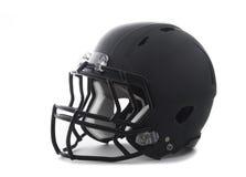 Schwarzer Football-Helm auf Weiß Lizenzfreie Stockfotografie