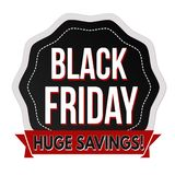 Schwarzer Freitag-Aufkleber oder -aufkleber Stockfotografie