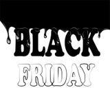 Schwarzer Freitag mit Flecken auf einem weißen Hintergrund Stockfoto
