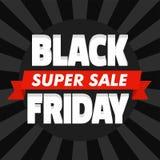 Schwarzer Freitag-Superverkaufs-Konzepthintergrund, flache Art lizenzfreie abbildung
