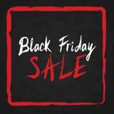 Schwarzer Freitag-Verkauf Beschriftung auf Tafel Lizenzfreie Stockfotos