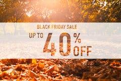 Schwarzer Freitag-Verkauf bis 40% lizenzfreies stockfoto