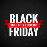 Schwarzer Freitag-Verkaufsrabatt und -angebot Stockbilder