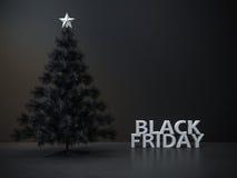 Schwarzer Freitag-Weihnachtsbaumhintergrund Stockfoto