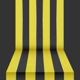 Schwarzer gelber Perspektivenhintergrund Stockbilder