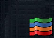 Schwarzer Gitter-Hintergrund mit Farbstreifen Lizenzfreies Stockfoto