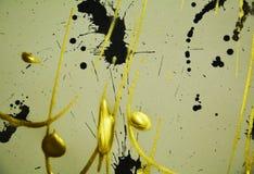 Schwarzer goldener kreativer eleganter Luxushintergrund, eleganter Hintergrund Lizenzfreies Stockbild