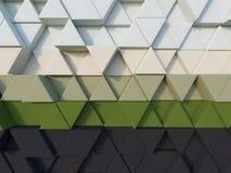 Schwarzer grüner Dreieckhintergrund der Zusammenfassung 3d übertragen Stockbild