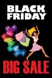 Schwarzer großer Verkauf Freitags Stockbild