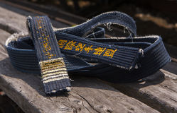 Schwarzer Gurt des Karate Stockfotografie