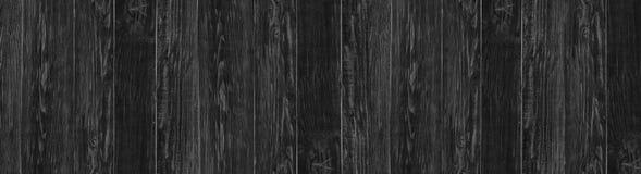 Schwarzer hölzerner Hintergrund der Weinlese Dunkle hölzerne panoramische Beschaffenheit stockbilder