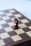 Schwarzer hölzerner Schach-Ritter stockbilder