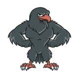 Schwarzer Hawk Cartoon Lizenzfreie Stockfotos