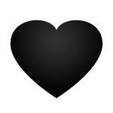 Schwarzer Herzvektor Stockfoto