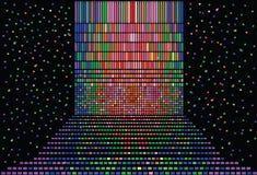 Schwarzer Hintergrund in der Discoart Stockbilder