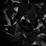 Schwarzer Hintergrund des Diamanten Stockfoto