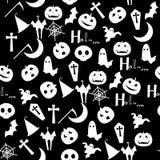 Schwarzer Hintergrund des Halloween-Tages Lizenzfreies Stockbild