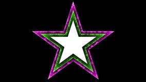Schwarzer Hintergrund des Stern-038 - Glühen-Neonbuntes - Lizenzfreie Stockfotos