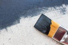 Schwarzer Hintergrund mit Acrylfarbe Lizenzfreies Stockfoto