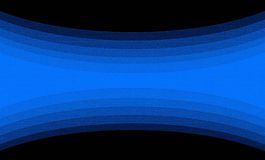 Schwarzer Hintergrund mit Blauspirale in den Linien Stockfoto
