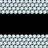 Schwarzer Hintergrund mit Diamantgrenzen Stockfotos