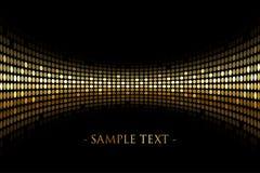 Schwarzer Hintergrund mit Gold beleuchtet mit Raum für Ihr tex Lizenzfreie Stockfotografie