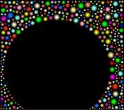 Schwarzer Hintergrund mit Kugeln Stockbilder