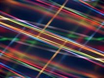 Schwarzer Hintergrund mit mehrfarbigen leuchtenden Linien Lizenzfreies Stockbild