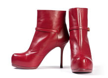 Schwarzer hoher Schuh der Frau lizenzfreies stockbild