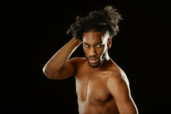 Schwarzer junger Mann Stockfotos