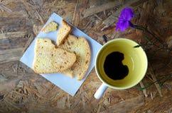 Schwarzer Kaffee in der Liebe Lizenzfreies Stockfoto