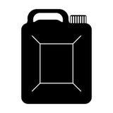 Schwarzer Kanister des Benzinikonenbildes lizenzfreie abbildung
