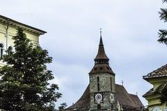 Schwarzer Kirchturm Stockbilder
