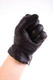 Schwarzer klassischer Handschuh lokalisiert Lizenzfreie Stockfotos