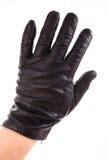 Schwarzer klassischer Handschuh lokalisiert Stockfoto