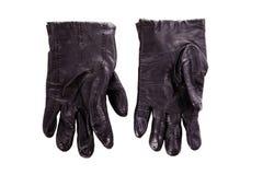 Schwarzer klassischer Handschuh lokalisiert Lizenzfreies Stockbild
