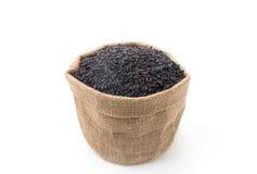 Schwarzer klebriger gaba Reis Stockfotos