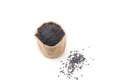 Schwarzer klebriger gaba Reis Stockfoto