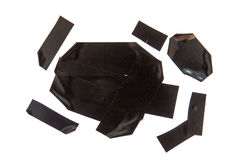 Schwarzer Klebstreifen Lizenzfreies Stockbild