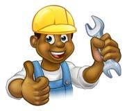 Schwarzer Klempner Mechanic oder Heimwerker Lizenzfreies Stockfoto