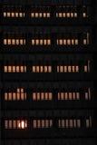 Schwarzer Kontrollturm Stockfotos
