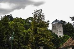 Schwarzer Kontrollturm Stockbild