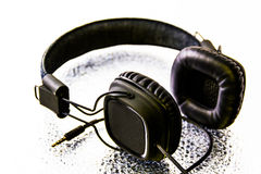 Schwarzer Kopfhörer Stockbilder