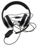 Schwarzer Kopfhörer mit USB-Port lizenzfreies stockfoto