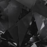 Schwarzer Kristallseitenflächehintergrund Lizenzfreie Stockfotos