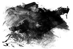 Schwarzer Lack geschmiert auf Weiß Stockbilder