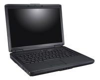 Schwarzer Laptop Lizenzfreie Stockfotografie