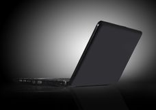 Schwarzer Laptop Stockfoto
